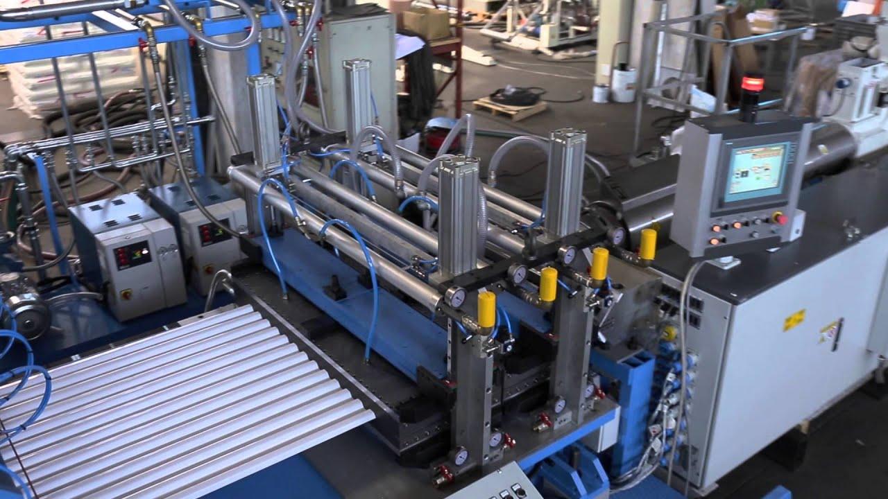 Corrugated Sheet Extrusion Line Youtube