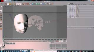 Dunreeb Cutout: Papercraft of a 3d template face model (organic form)