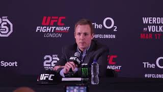 UFC London: VP David Shaw Post Fight Press Conference