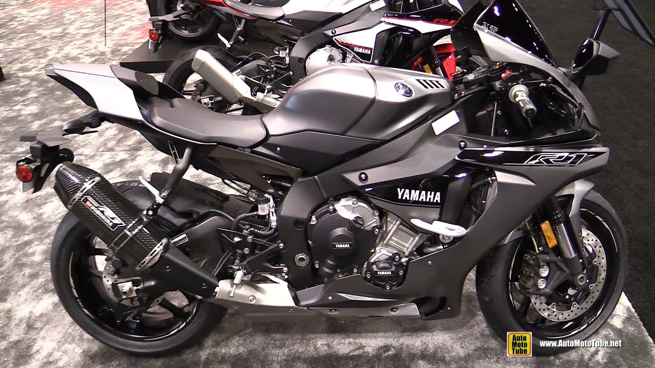 2016 yamaha r1 matt grey bike and engine cut walkaround 2015 aimexpo orlando youtube. Black Bedroom Furniture Sets. Home Design Ideas
