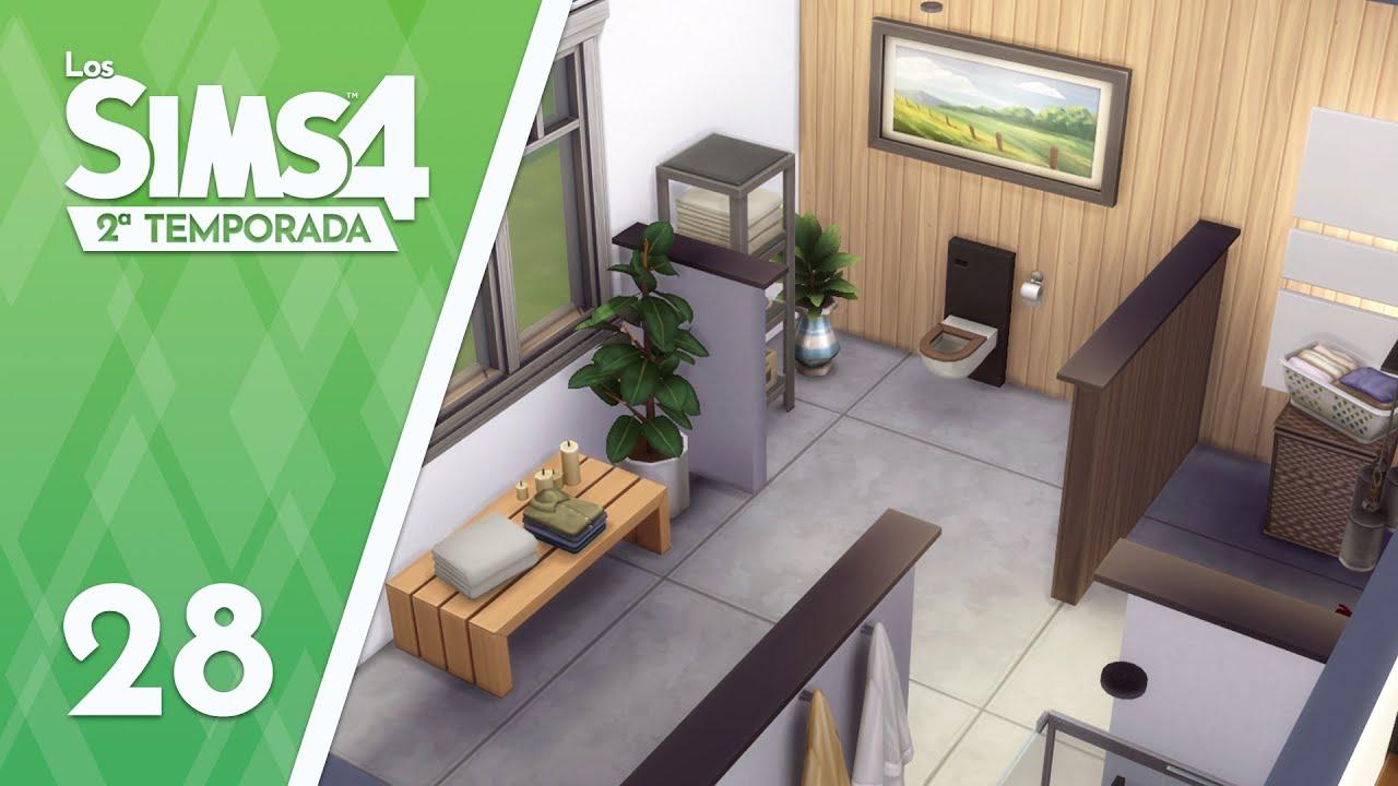 Los Sims 4 - 2x28 - Construyendo mi casa: El baño del piso inferior