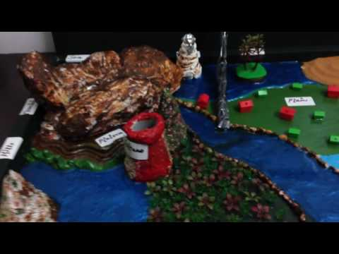 Landforms project using home based material