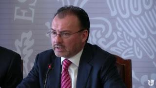 El secretario de Relaciones Exteriores de México, Luis Videgaray, se refiere a los inmigrantes.