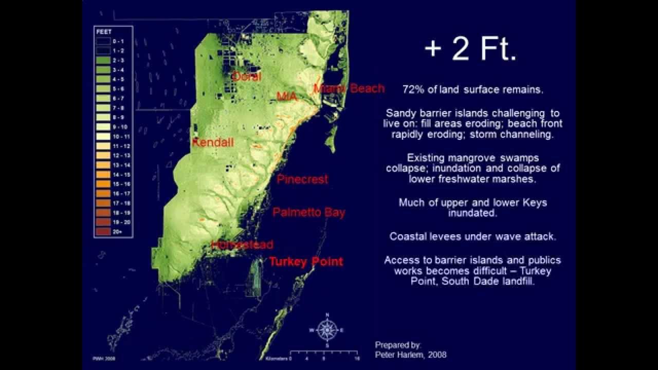 South Florida Sea Level Rise Turkey Point Reactors YouTube - Florida sea level rise map