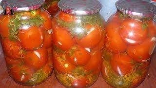 Маринованные помидоры на зиму. Помидоры фаршированные чесноком.