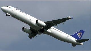 Air Astana Airbus A321 Powerful Take Off at Amsterdam Airport