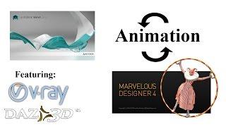 marvelous designer animation (to maya and back)