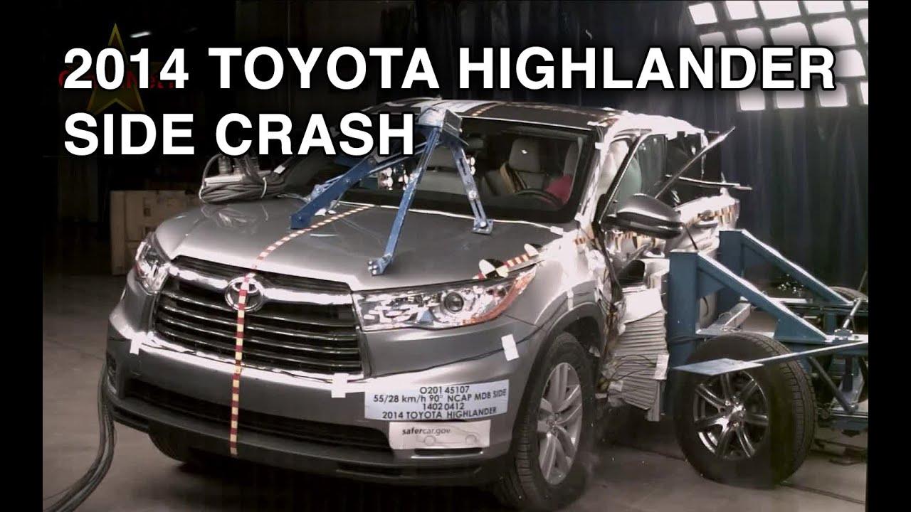 2014 toyota highlander side crash test crashnet1 youtube. Black Bedroom Furniture Sets. Home Design Ideas
