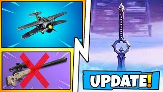 *NEW* Fortnite Update! Sword Melee Weapon Coming, X-4 Stormwing Plane Nerf, Snipers are Broken!
