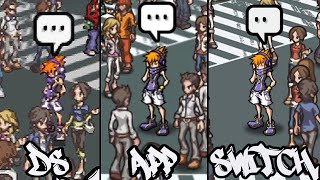 The World Ends With You: DS vs Android vs Switch: Ch1 Comparisons