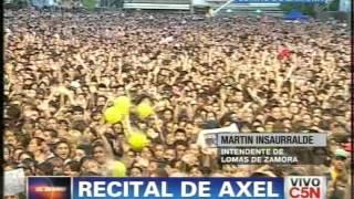 C5N - RECITAL DE AXEL: HABLA EL INTENDENTE DE LOMAS DE ZAMORA