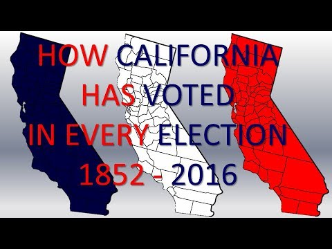 How California has voted in Every Presidential Election