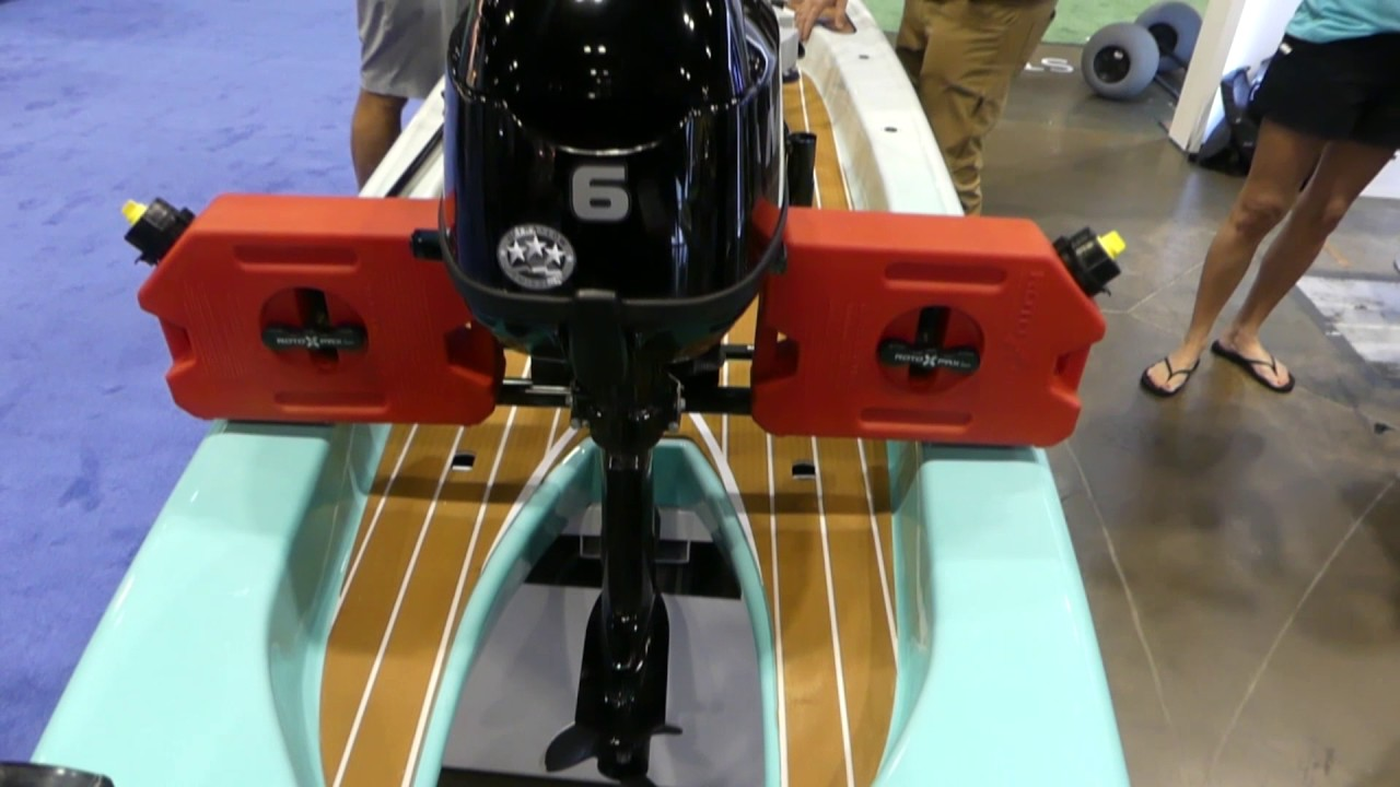 Outboard powered paddle board youtube for Bote paddle board with motor