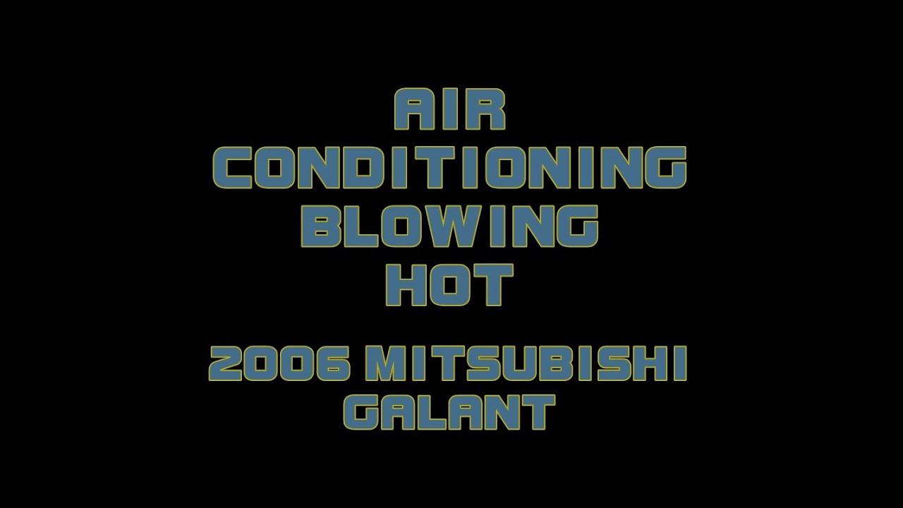 2006 Mitsubishi Galant Diagnosing No A C Youtube 02 Lancer Fuse Box