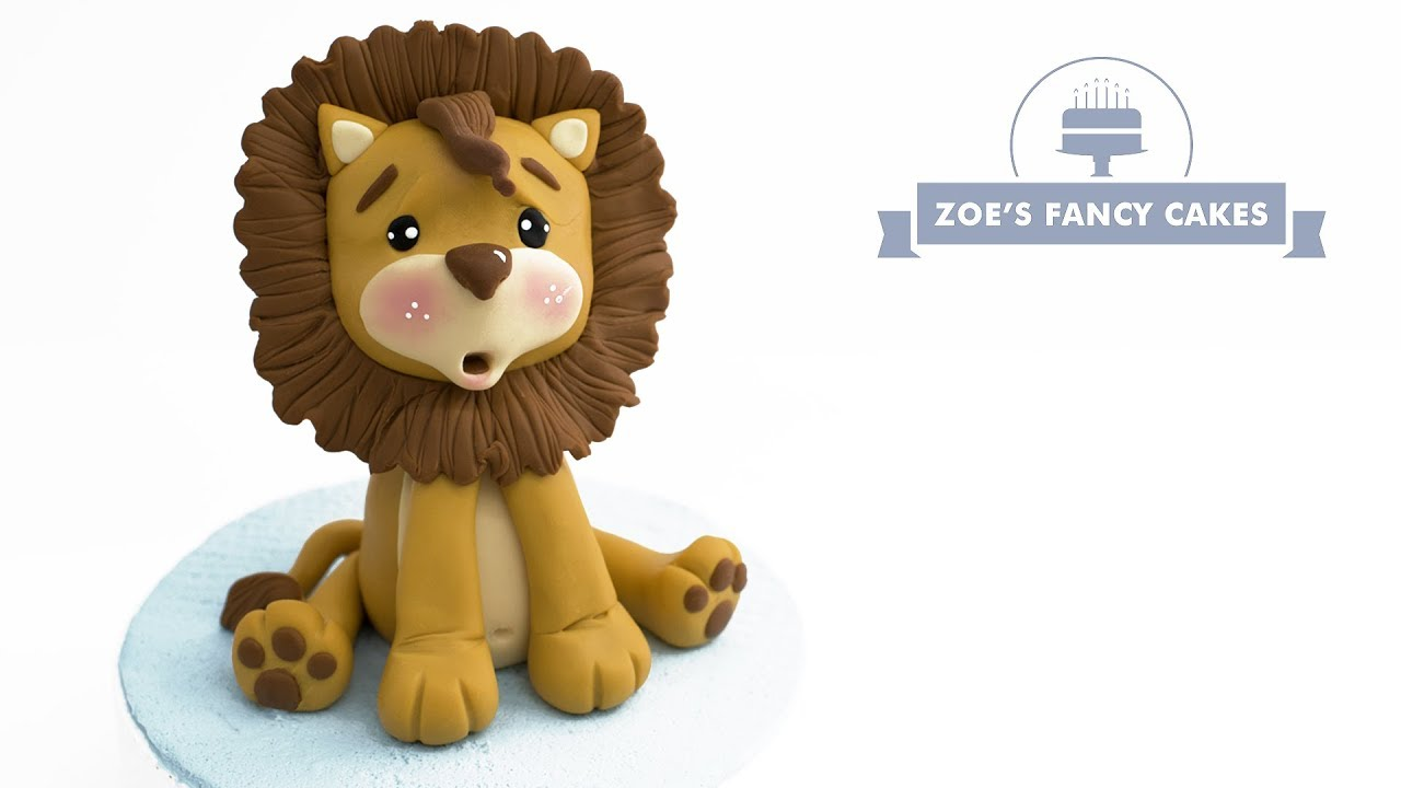 Super cute Lion Cake topper tutorial. Animals, wildlife ...