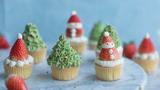 圣诞风杯子蛋糕Christmas cupcake