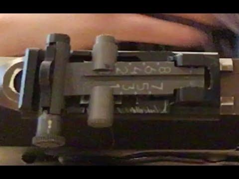 Целик АК-12 на Вепрь-12 и тест подъема линии приклада в замедленной съемке