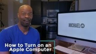 How to Turn on an Apple Computer | Michael Jr.