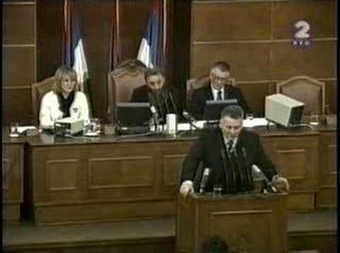 Velja Ilic - Baba Simana (govor U Skupstini)