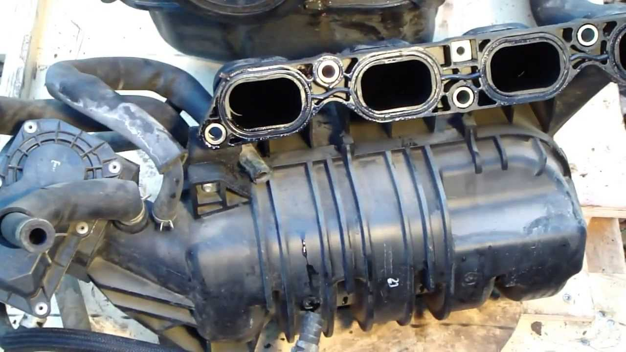 how to disassemble engine vvt-i toyota part 6/31: intake manifold - youtube