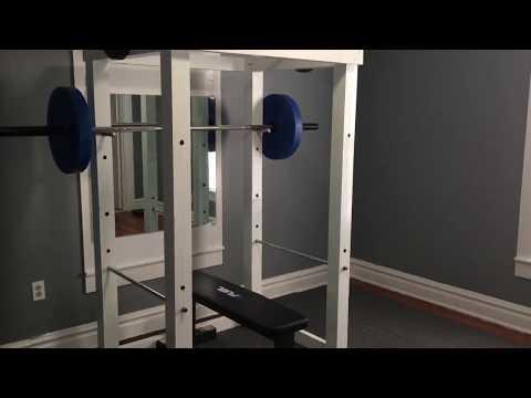 Homemade squat rack/power rack! How to build!!