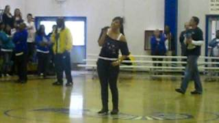 Hogan High Winter Rally Tati sings national anthem
