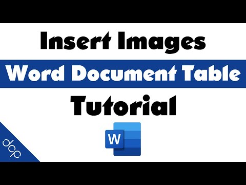 How to insert images into a Word Document Table - MS Word Tutorial