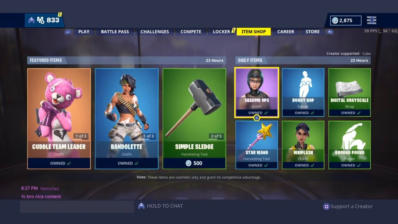 a91a6f2f8 Gifting Skins!! FORTNITE ITEM SHOP COUNTDOWN May 17th item shop Fortnite  Battle Royale – Shopping time