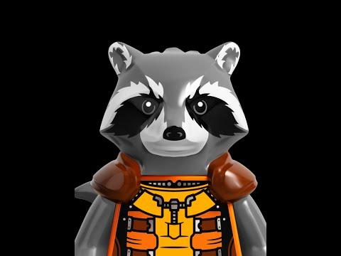 Lego V-Log - Минифигурка Ракета (Енот) Стражи галактики