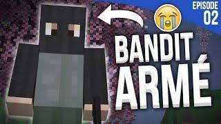 UN BANDIT M'ATTAQUE SUR MA MAP ?! | Minecraft Moddé S4 | Episode 2