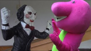 Saw Jigsaw Vs Barney The Dinosaur