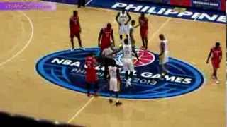 Houston Rockets vs Indiana Pacers - NBA Global Games Philippines 2013