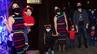Sunny Leone First Dinner Date With Husband & Kids After Lockdown