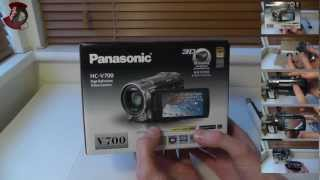 panasonic HC-V700 unboxing and overview (with sample video)