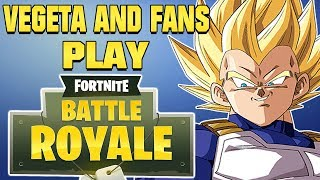 """Lets Get It"" Vegeta Plays Fortnite With Fans (Live)"