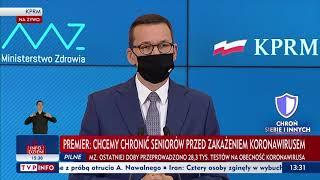 Konferencja premiera Mateusza Morawieckiego i ministra Adama Niedzielskiego - 10 października 2020 r
