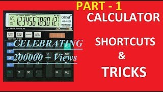 CALCULATOR TRICKS FOR CA, CS, CMA and other Commerce Students by CA. Harish Miglani (PART - 1)