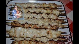 Вкусные куриные шашлычки на шпажках в духовке. Сочный шашлык из куриных грудок