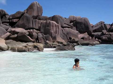 Grand Anse Beach La Digue Island Seychelles