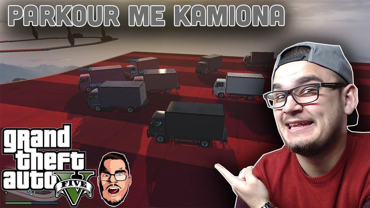 GTA 5 Shqip - Parkour Shum i FORT ME KAMIONA - Shqip #1