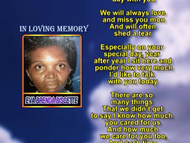 Eva Brenda Biscette memorial 2