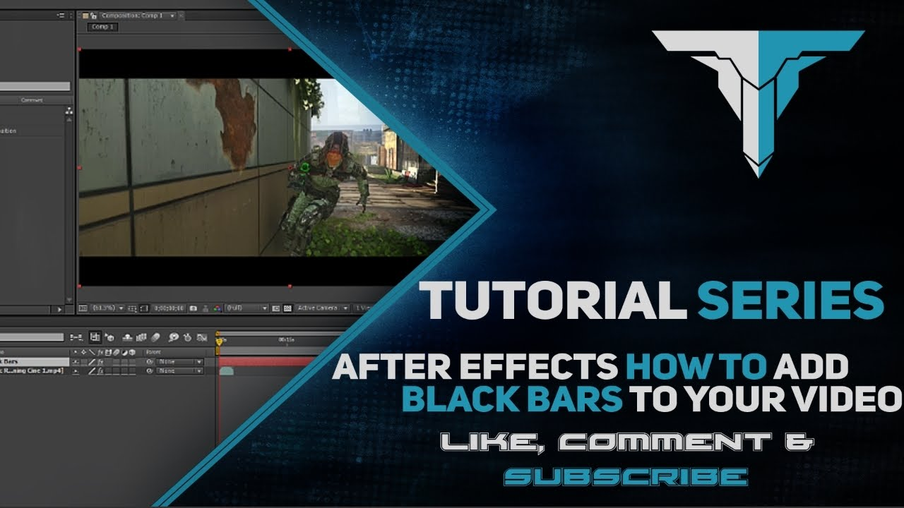 how to make black bars on after effects