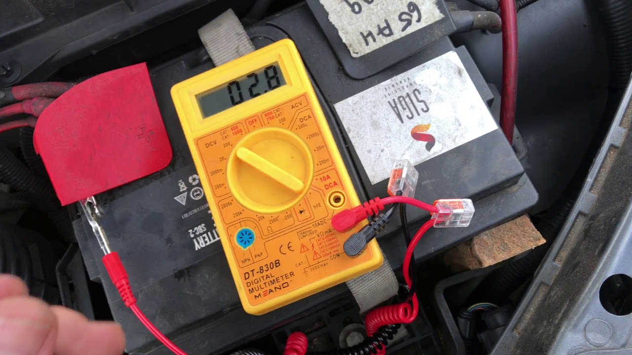How To Test Car Alternator With A Multimeter Ford Focus Diy Youtube