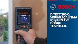 Bosch Professional D-tect 200 C: Verimli çalışma için hızlı ve doğru tespitler
