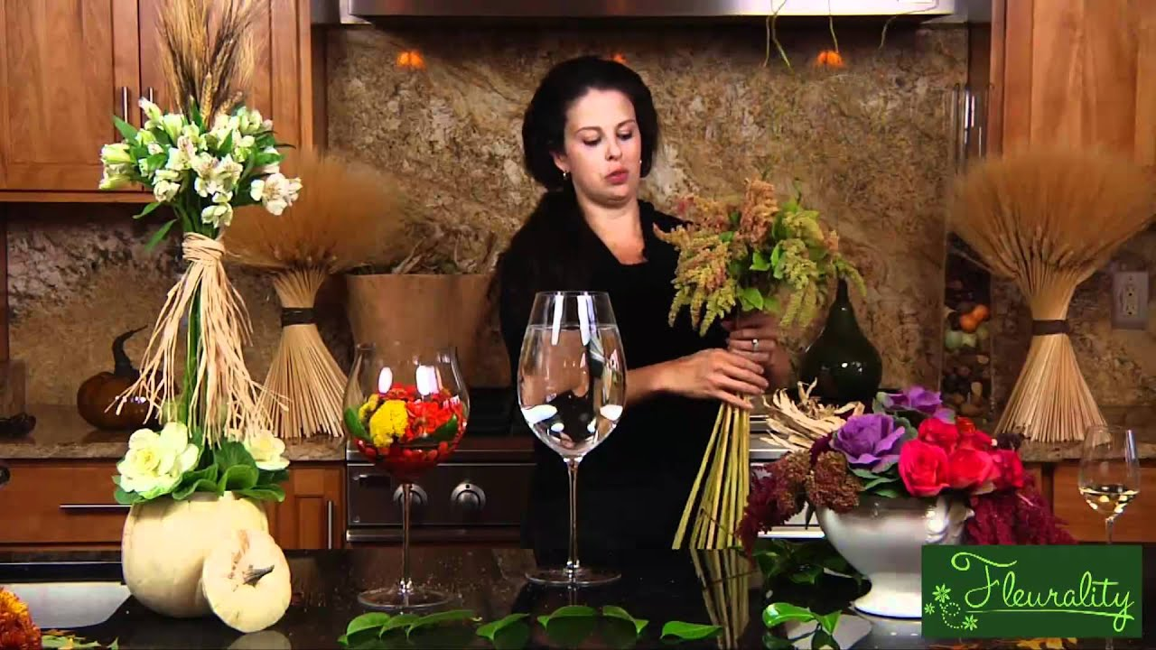 Fleurality  Using a Tall Wine Glass as a Vase  YouTube