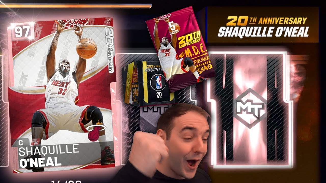 NBA 2K19 My Team PINK DIAMOND SHAQ! ARE THESE JUICED? ANNIVERSARY PACK OPENING!!!!