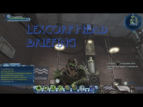 DCUO Legacy of Krypton Episode 1 Lexcorp Head Briefing