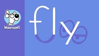 Draw A Fly Using The Word Fly -  Wordtoon Fly