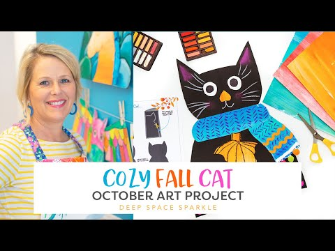 How To Make a Cozy Fall Cat | FALL ART TUTORIAL LESSONS thumbnail