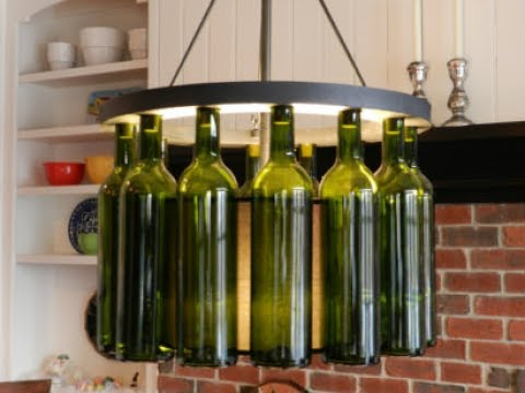 Wine Bottle Light Fixture Youtube